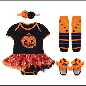 Baby Girls Halloween Costume Romper with Headband